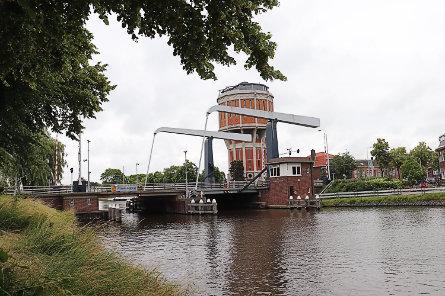 Foto Wilhelminabrug, Leiden